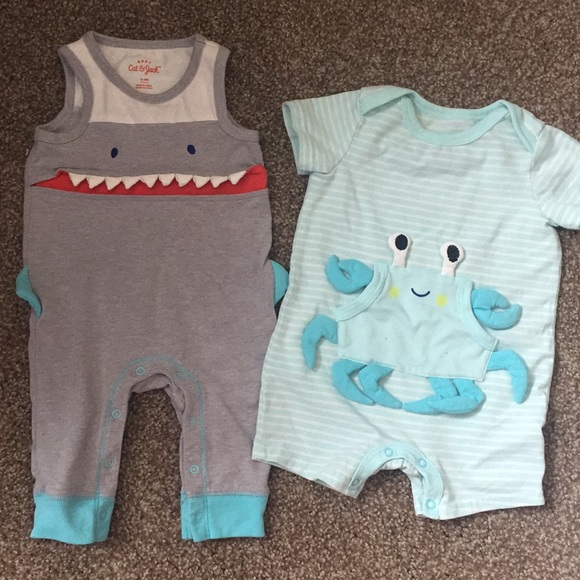 52ea56510 Cat & Jack One Pieces   Cat Jack Shark And Crab Outfits   Poshmark